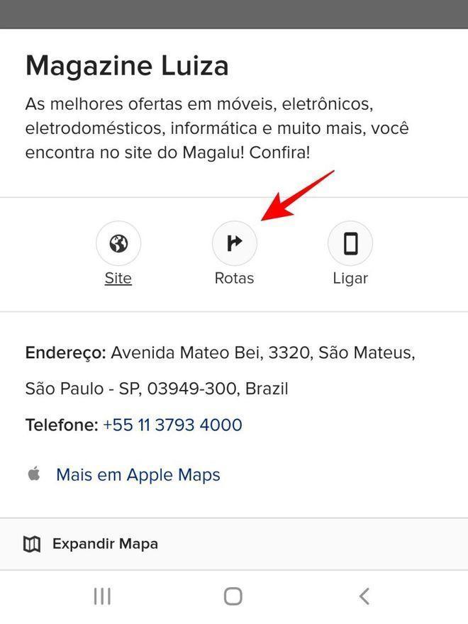 Ache a rota ideal para seu destino no Apple Maps - Captura de tela: Thiago Furquim (Canaltech)