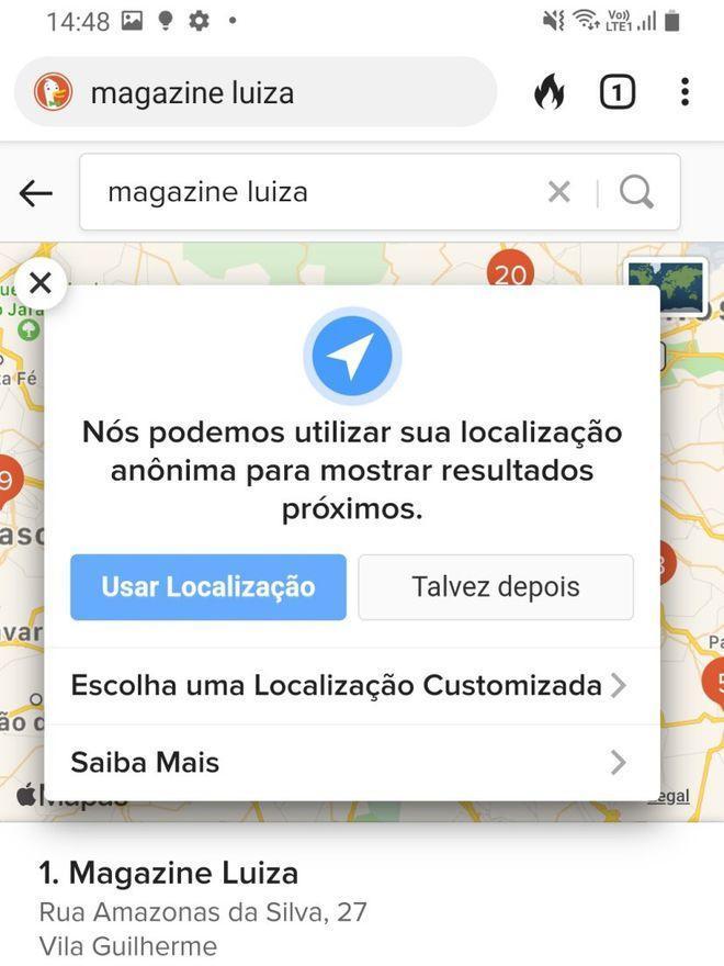 Utilize sua localização para mostrar resultados precisos de rotas - Captura de tela: Thiago Furquim (Canaltech)